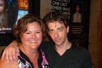 Christian Borle (Captain Stache) and me after Peter and the Starcatcher