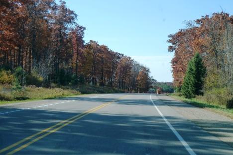 Wisconsin roads, slow traveling, Door County, Wisconsin