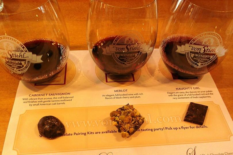chocolate wine tasting wi von stiehl