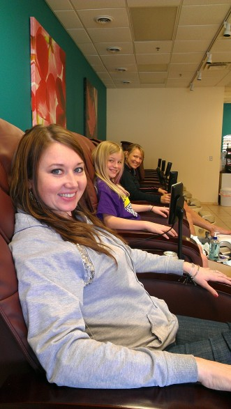 Pedis with the girls pedicure pampering spa