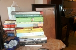 My TBR pile moved from my bedside table!