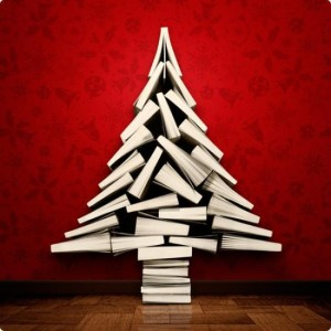 Next year I may make a Christmas tree out of books