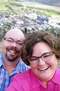 Love this selfie with Rushford in the background!