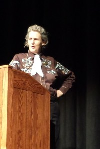 Love last minute invitations and loved hearing Temple Grandin again!  She's something!