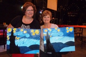 Love Starry Night with Rochester Wine & Canvas!  And Beth!