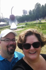 Spoon and Cherry at the Sculpture garden MPLS.
